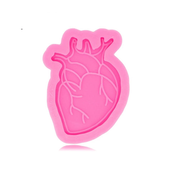 Real Heart Badge Reel Silicone Mold