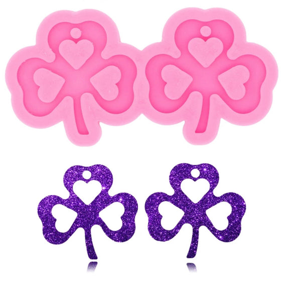 Large Clover Earring Silicone Mold