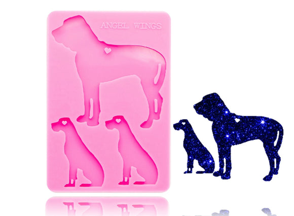 Large Dog Family Silicone Mold - SALE