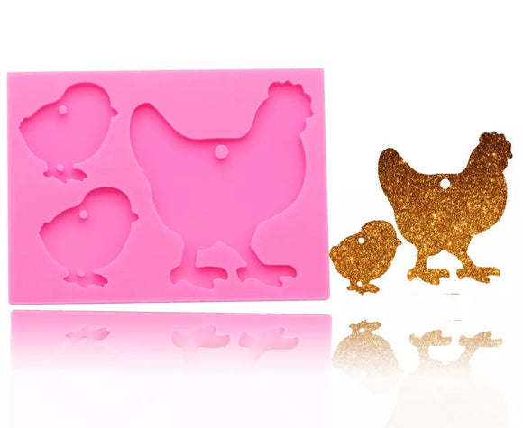Chicken Family Silicone Mold