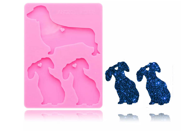 Dachshund Dog Family Silicone Mold