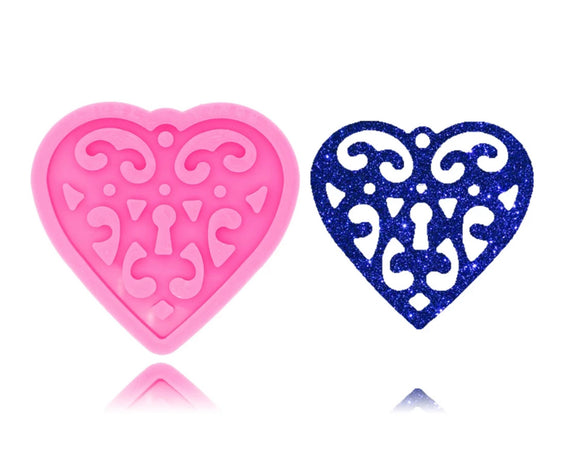 Paisley Heart Silicone Mold