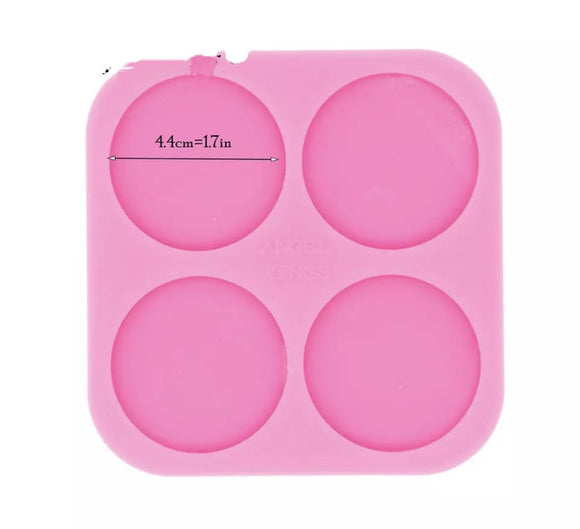 Large Circle Stud Silicone Mold