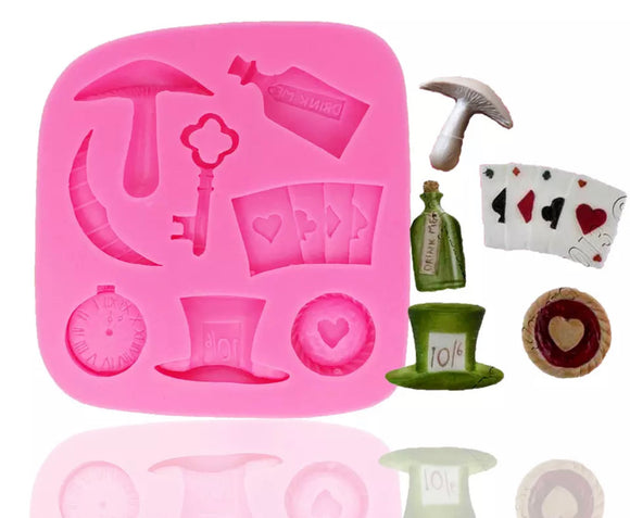 Alice in Wonderland Silicone Mold - Sale