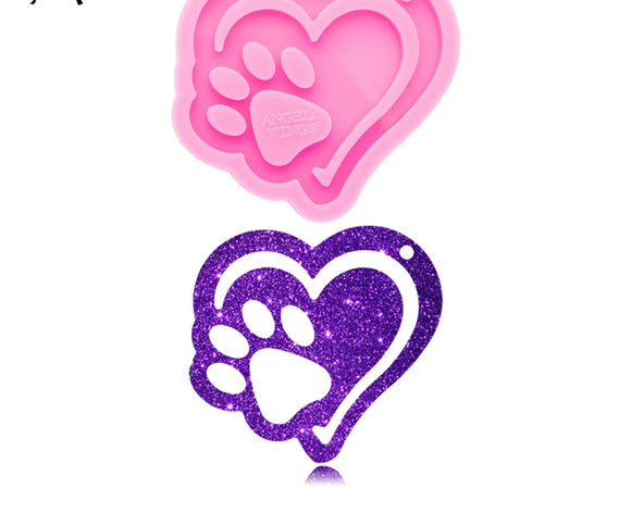 Heart and Paw Silicone Mold