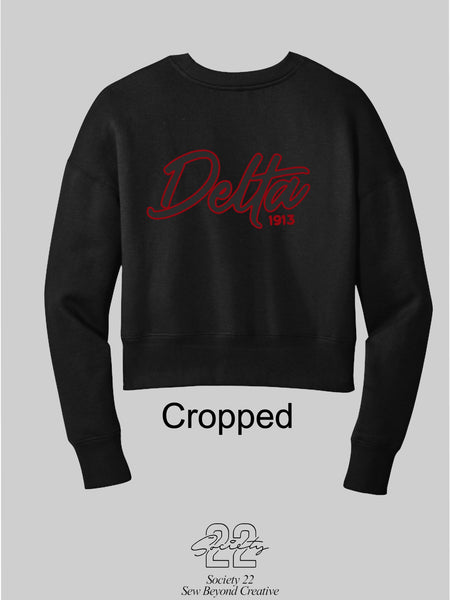 Delta Cropped Sweatshirt