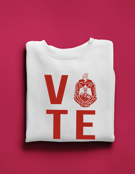 Crest Vote White Sweatshirt