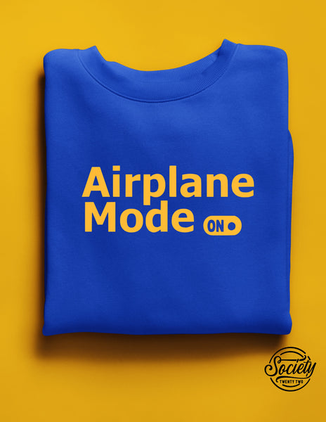 Airplane Mode Royal Gold Sweatshirt