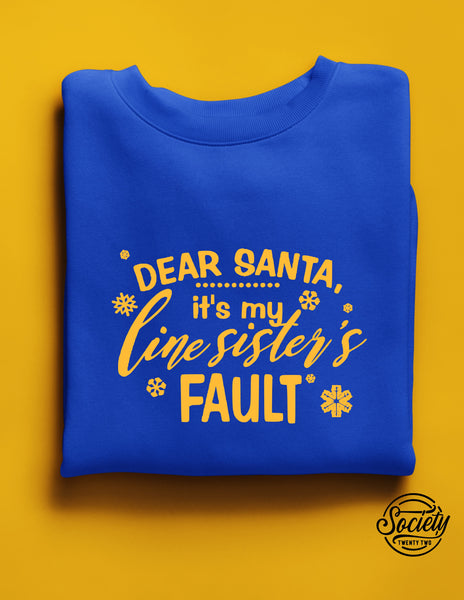Dear Santa Royal and Gold Sweatshirt