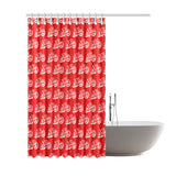 "aeo-port graffitti graffiti 3 Shower Curtain 72""x84"""