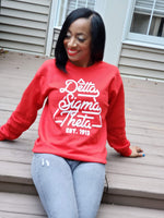 Pyramid Delta Sigma Theta Sweatshirt in Red