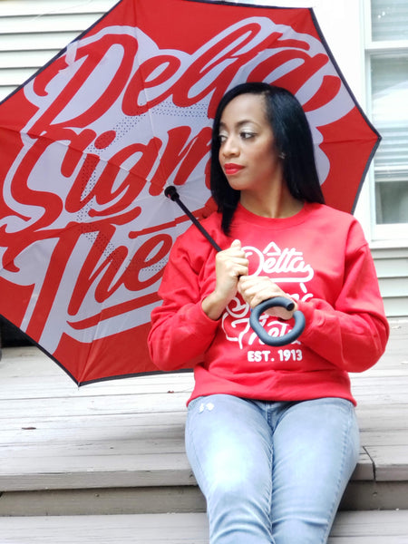 Inverted Umbrella - Cursive Delta Sigma Theta