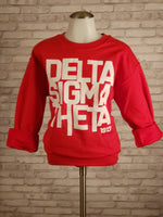 Stacked Puzzle Delta Sigma Theta Sweatshirt in Red