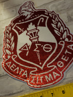 Large Sequin Crest Shield Patch