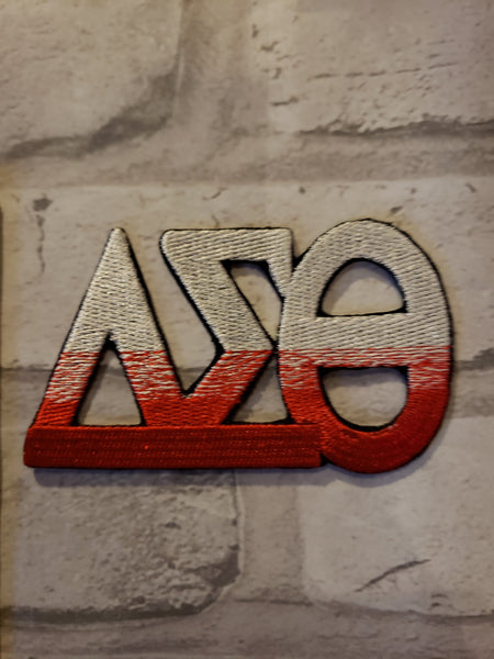 Two tone greek letter