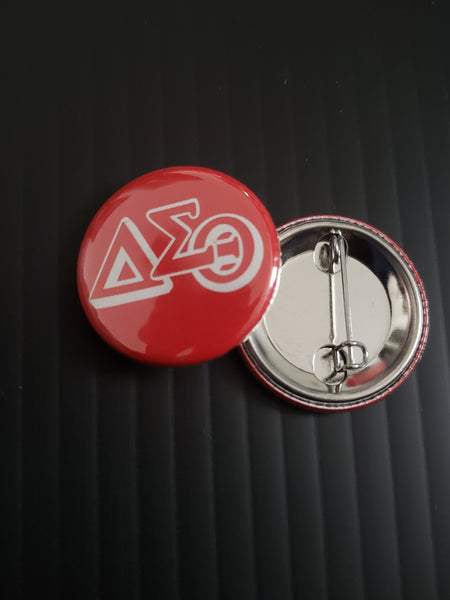 "Delta Greek Letters 1"" Pin Button"