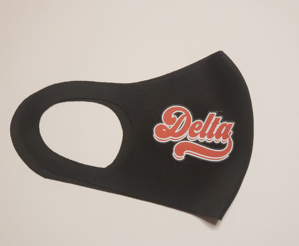 Retro Delta face mask cover  - Ready to Ship