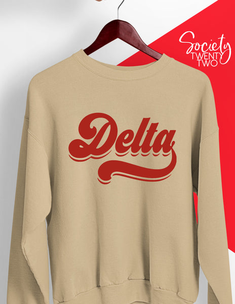 70s Delta on Cream Sweatshirt