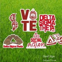 Delta Yard Sign Collection (One side)
