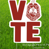 Delta Vote Yard Sign with Crest (One side)