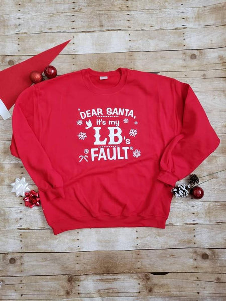 Dear Santa Red and White Sweatshirt
