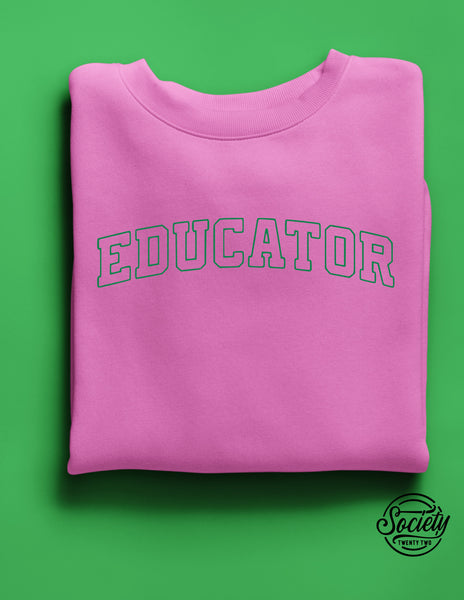 Educator Green on Pink