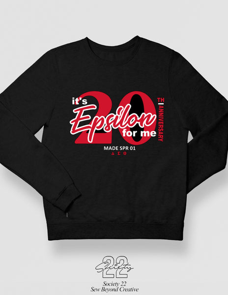 Its the Epsilon for Me Spring 2001 Black Crewneck