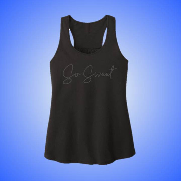 So Sweet Black Racerback Tank