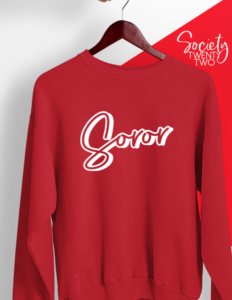 Soror Delta Sigma Theta ΔΣΘ Sweatshirt in Red