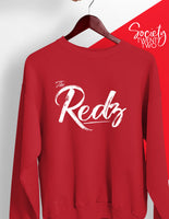The Redz Cursive Red Sweatshirt