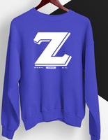 Large Z Royal and White Sweatshirt