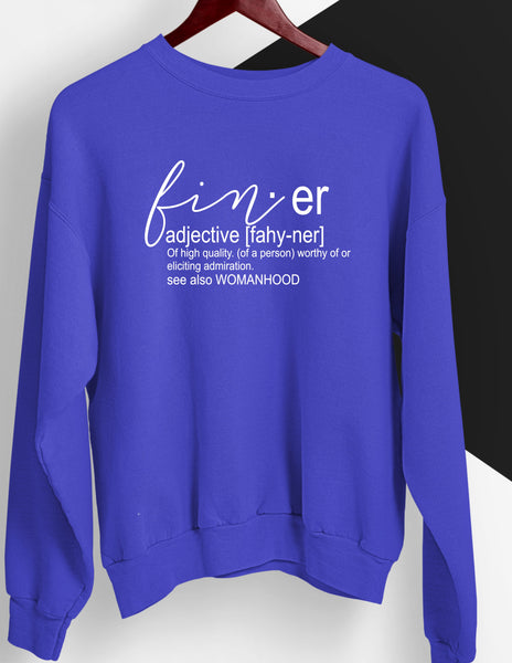 Finer Definition Royal and White Sweatshirt