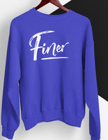 Finer Cursive Royal and White Sweatshirt