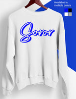 Soror Royal and White Sweatshirt