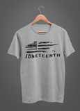 Juneteenth Flag Gray