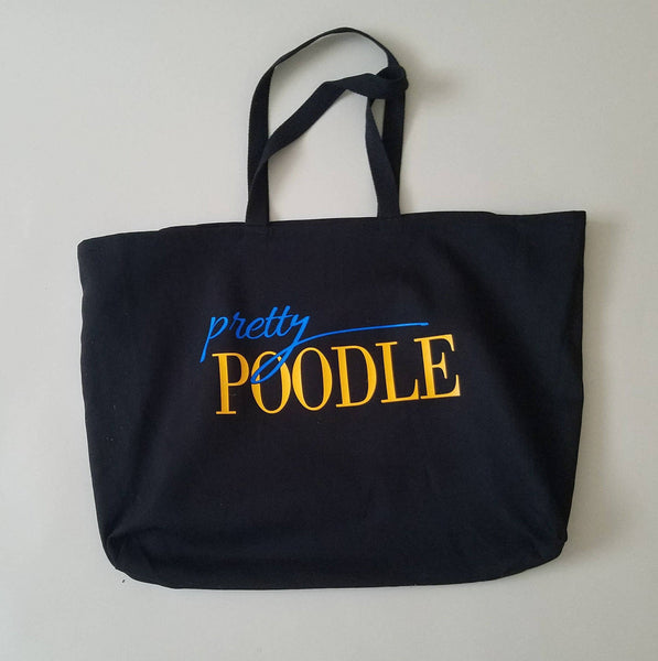 Pretty Poodle Oversized Tote Bag