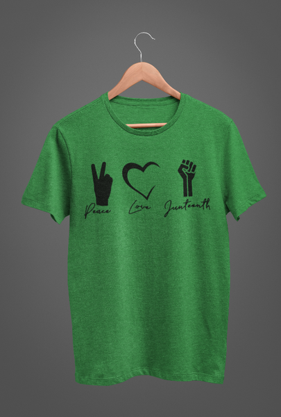 Peace, Love, Juneteenth in Green