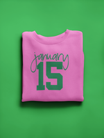 January 15th Green on Pink