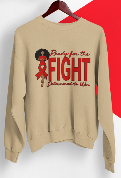 AIDS Awareness Sweatshirt in Cream