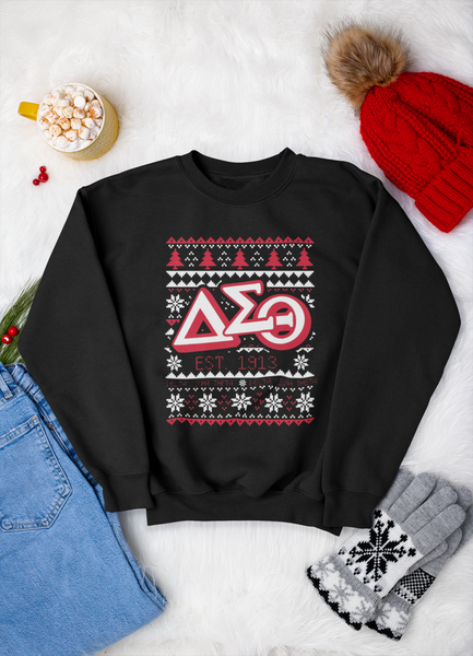 Black Delta Christmas Sweatshirt