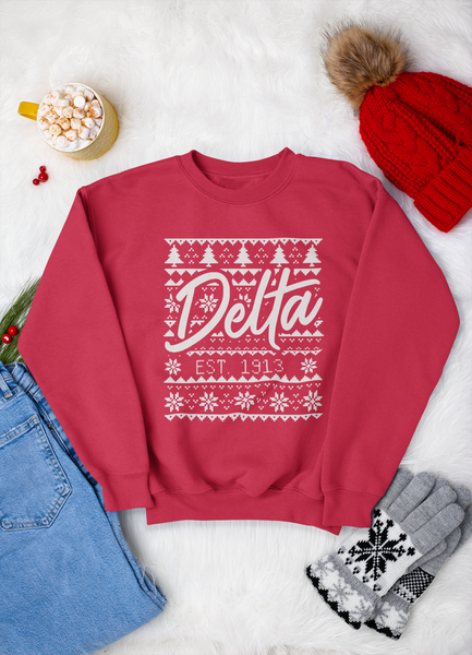 Red Delta Christmas Sweatshirt
