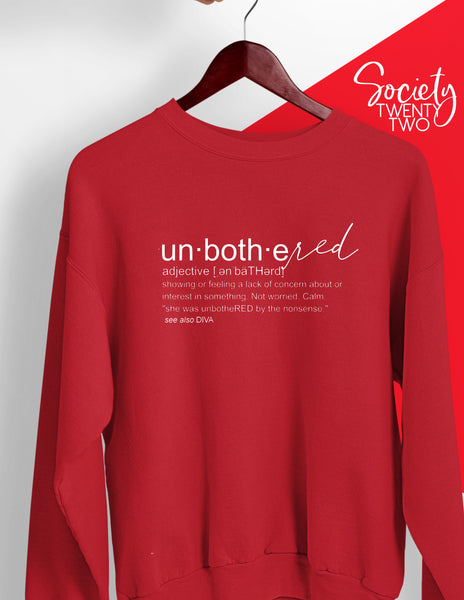 unbotheRED dictionary  Sweatshirt