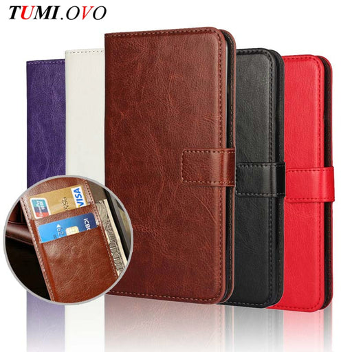 Leather Flip Wallet Cover for Samsung Galaxy and Iphone