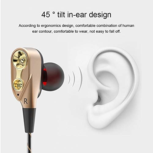 Dual Drive Stereo Wired Earphone In-ear Headset Earbuds Bass Earphones For IPhone Samsung 3.5mm Headset With Mic