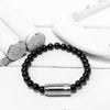 Mini Luxury /  Silver-Black Onyx