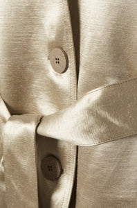 Golden organic soft suit blazer jacket