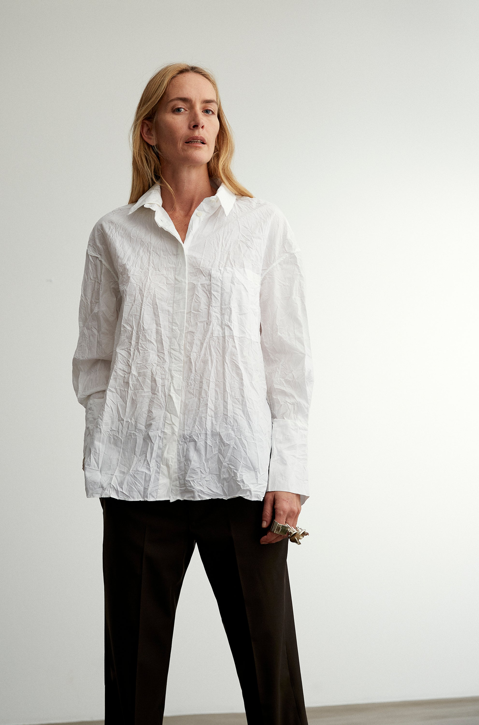 5-6 Boyfriend Shirt Crinkled