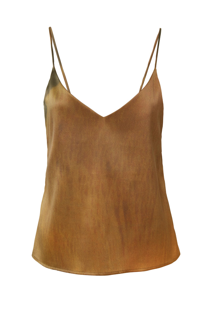 04-4 Organic Camisole Silk Top Printed