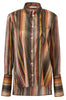 06-4 Signature Organic Striped Silk Shirt