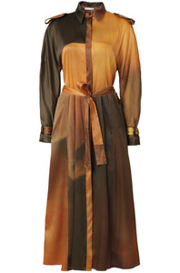 17-4 Belted Trench Dress